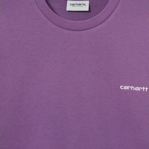 CARHARTT Sudadera Script Embroidery Sweat Aster White [2]