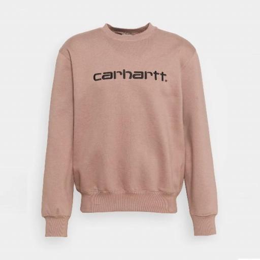 CARHARTT Sudadera Sweatshirt Earthy Pink Black