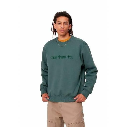 CARHARTT Sudadera Sweatshirt Eucalyptus Frasier