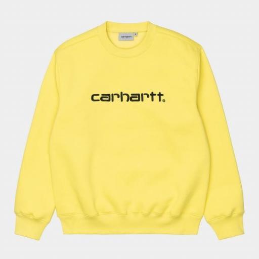 CARHARTT Sudadera Sweatshirt Limoncello Black