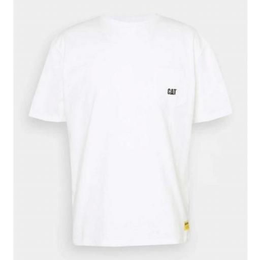 CAT Camiseta Basic Pocket T-Shirt Cream [0]