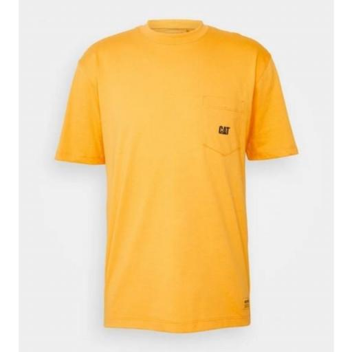 CAT Camiseta Basic Pocket T-Shirt Yellow [1]