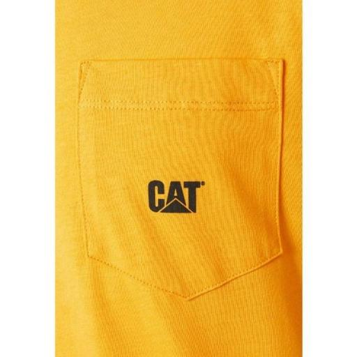 CAT Camiseta Basic Pocket T-Shirt Yellow [2]