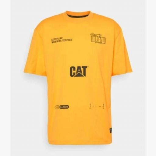 CAT Camiseta Machinery Tee Yellow