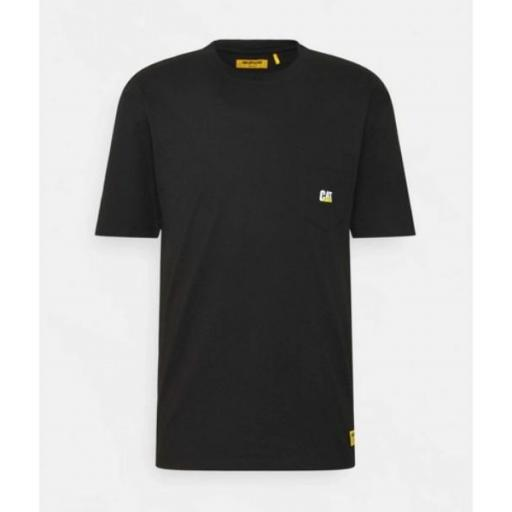 CAT Camiseta Pocket tee Black