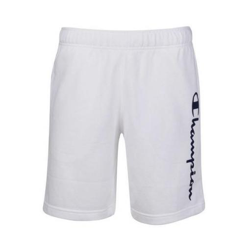 CHAMPION Pantalón corto Straight Hem White