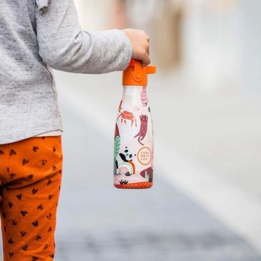 COOL BOTTLES Botella térmica 260 ml. Kids Panda Gang [3]
