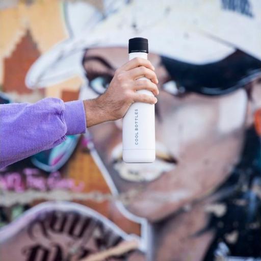COOL BOTTLES Botella térmica 500 ml. Mono White [2]