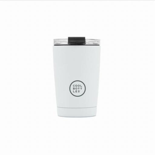COOL BOTTLES Vaso térmico The Tumbler 330 ml. Mono White
