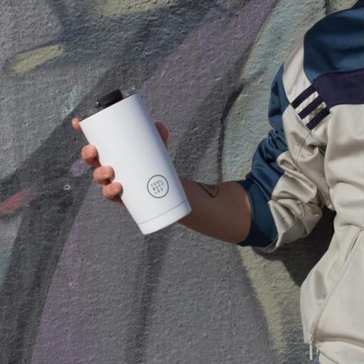 COOL BOTTLES Vaso térmico The Tumbler 330 ml. Mono White [3]