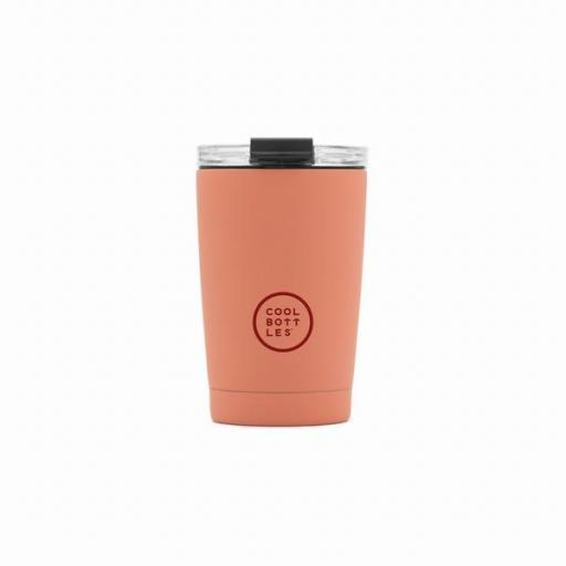 COOL BOTTLES Vaso térmico The Tumbler 330 ml. Pastel Coral