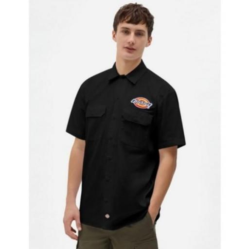 DICKIES Camisa Clintondale SS Work Black