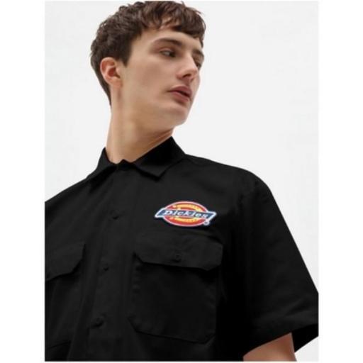 DICKIES Camisa Clintondale SS Work Black [2]
