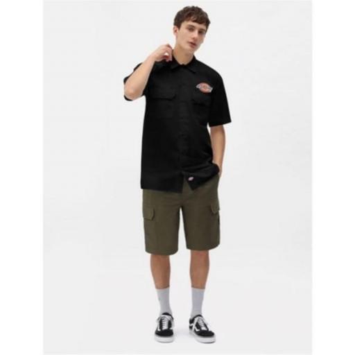 DICKIES Camisa Clintondale SS Work Black [3]