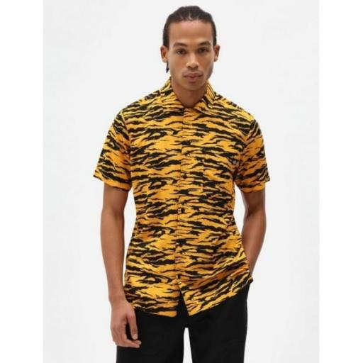 DICKIES Camisa Quamba Shirt Cadnium Yellow