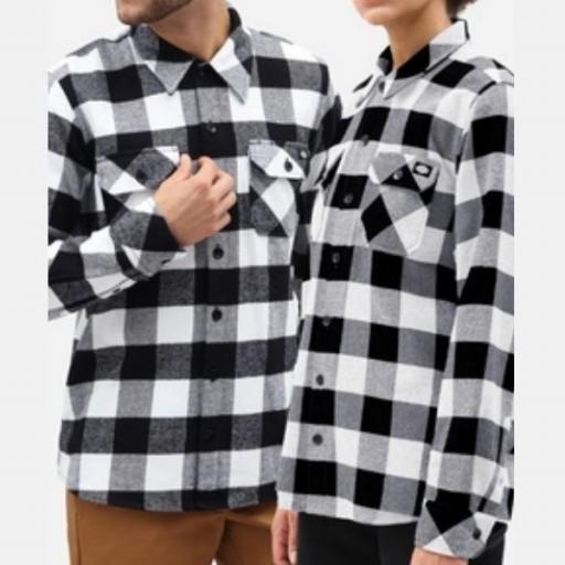 DICKIES Camisa Sacramento Relaxed Long Sleeve Black [1]