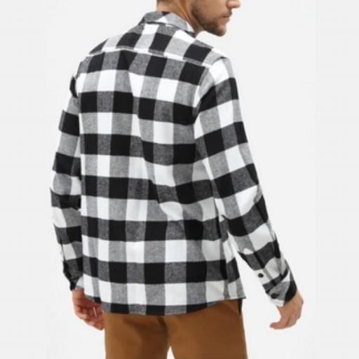DICKIES Camisa Sacramento Relaxed Long Sleeve Black [3]