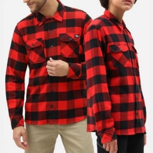 DICKIES Camisa Sacramento Relaxed Long Sleeve Red [1]