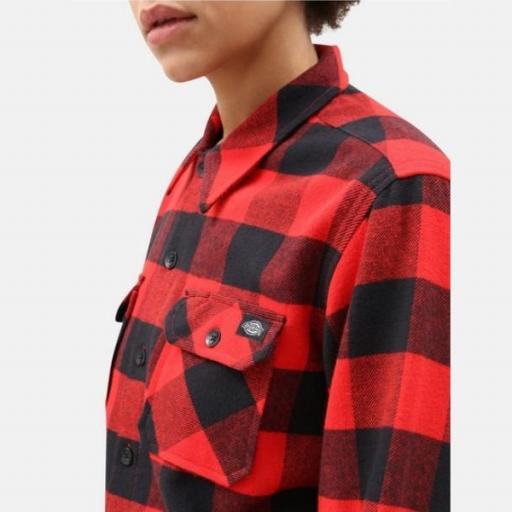 DICKIES Camisa Sacramento Relaxed Long Sleeve Red [2]