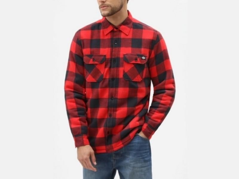 DICKIES Camisa Sacramento Relaxed Long Sleeve Red