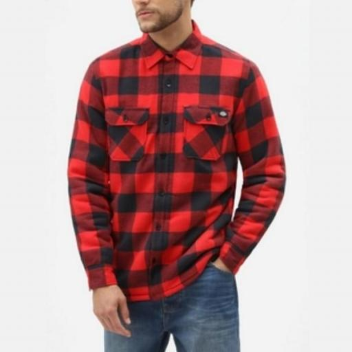 DICKIES Camisa Sacramento Relaxed Long Sleeve Red [0]