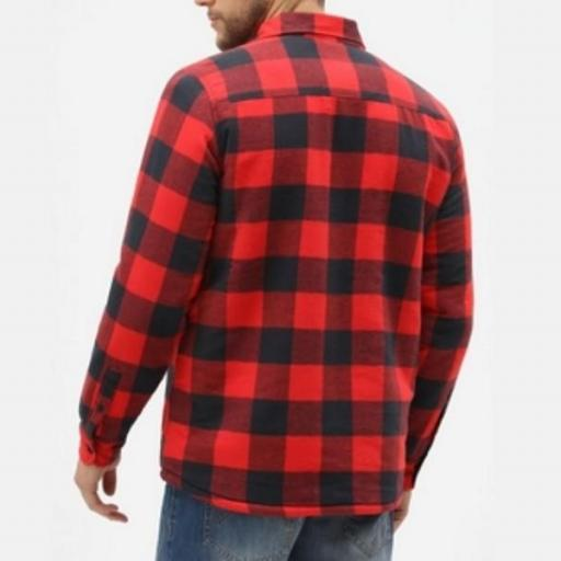 DICKIES Camisa Sacramento Relaxed Long Sleeve Red [3]
