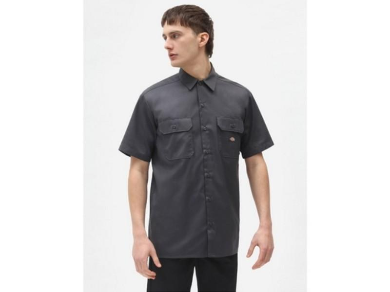 DICKIES Camisa Short Sleeve Work Shirt Charcoal Grey