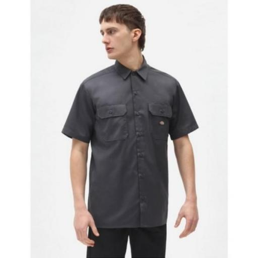 DICKIES Camisa Short Sleeve Work Shirt Charcoal Grey [0]
