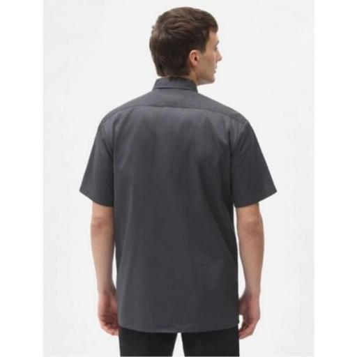 DICKIES Camisa Short Sleeve Work Shirt Charcoal Grey [1]