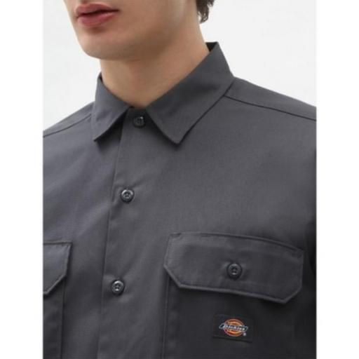 DICKIES Camisa Short Sleeve Work Shirt Charcoal Grey [2]