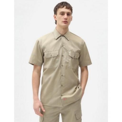DICKIES Camisa Short Sleeve Work Shirt Khaki