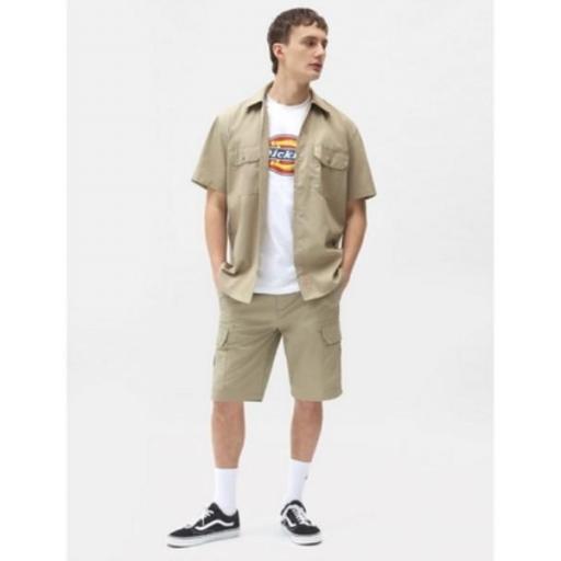 DICKIES Camisa Short Sleeve Work Shirt Khaki [3]