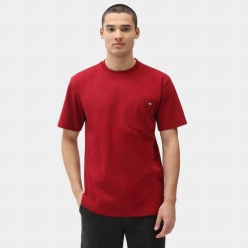 DICKIES Camiseta Porterdale Mens Short-Sleeved T-Shirt Biking Red