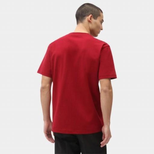 DICKIES Camiseta Porterdale Mens Short-Sleeved T-Shirt Biking Red [1]