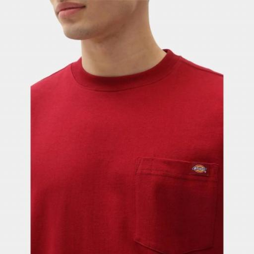 DICKIES Camiseta Porterdale Mens Short-Sleeved T-Shirt Biking Red [2]