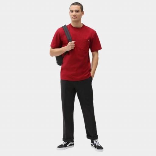 DICKIES Camiseta Porterdale Mens Short-Sleeved T-Shirt Biking Red [3]