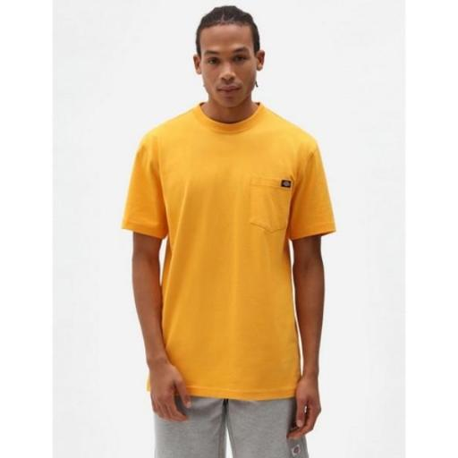 DICKIES Camiseta Porterdale Mens Short-Sleeved T-Shirt Cadnium Yellow