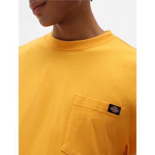 DICKIES Camiseta Porterdale Mens Short-Sleeved T-Shirt Cadnium Yellow [2]
