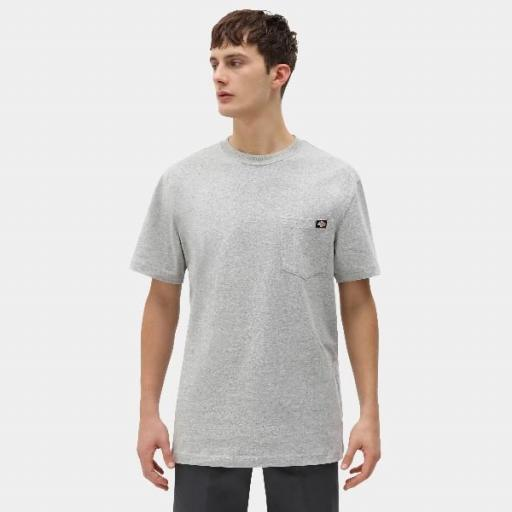 DICKIES Camiseta Porterdale Mens Short-Sleeved T-Shirt Heather Grey