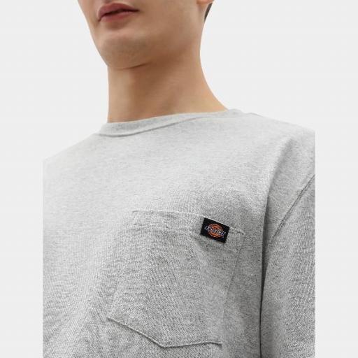 DICKIES Camiseta Porterdale Mens Short-Sleeved T-Shirt Heather Grey [2]