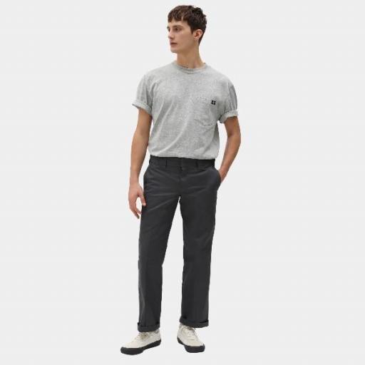 DICKIES Camiseta Porterdale Mens Short-Sleeved T-Shirt Heather Grey [3]