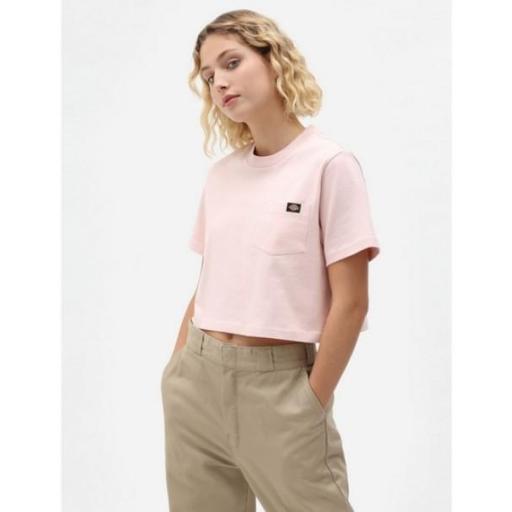 DICKIES Camiseta SS Porterdale Crop W Light Pink