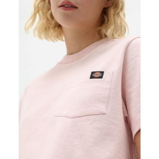 DICKIES Camiseta SS Porterdale Crop W Light Pink [2]