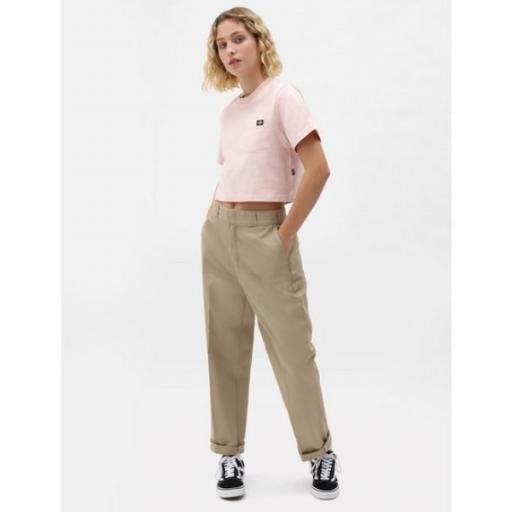 DICKIES Camiseta SS Porterdale Crop W Light Pink [3]