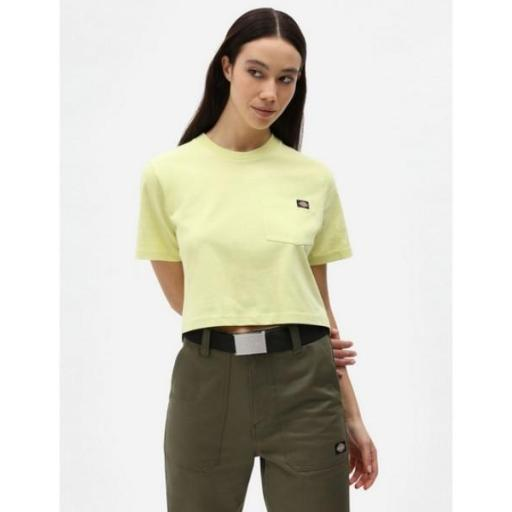 DICKIES Camiseta SS Porterdale Crop W Mellow Green