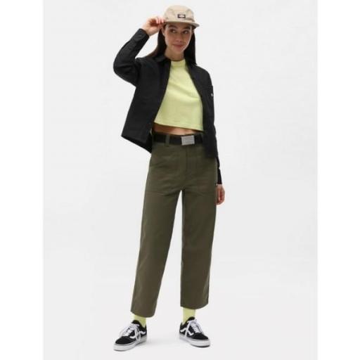 DICKIES Camiseta SS Porterdale Crop W Mellow Green [3]