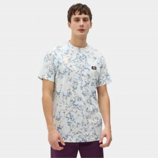 DICKIES Camiseta Sunburg Tee Fog Blue