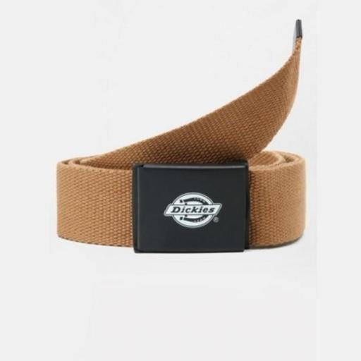 DICKIES Cinturón Orcutt Men Logo Buckle Belt Brown Duck
