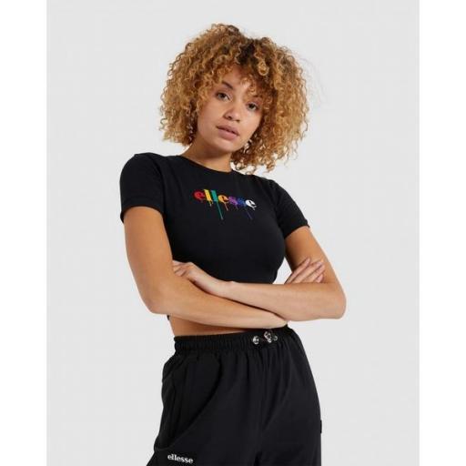 ELLESSE Camiseta Romancia Crop T-Shirt Black