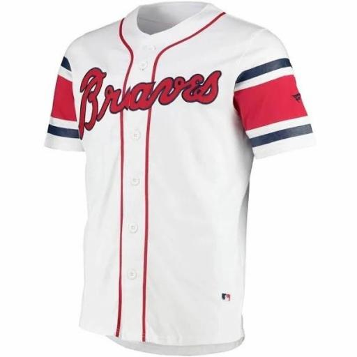 FANATICS Camiseta Beisbolera MLB Atlanta Braves Franchise Cotton Supporters Jersey White